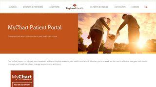 Regional Health Patient Portal