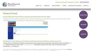 Renaissance Pediatrics Patient Portal