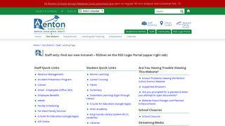 Renton School District Internet Portal