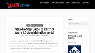 Restrict Access To Azure Ad Administration Portal