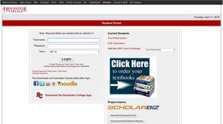 Rochester College Student Portal
