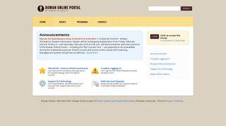 Rowan Online Portal