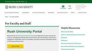Rush Employee Portal