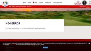 Ryder Cup Hospitality Portal