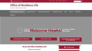 Saint Joseph's University Housing Portal