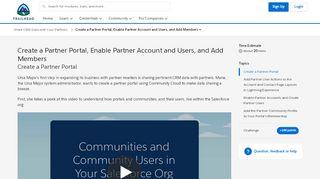 Salesforce Partner Portal Setup