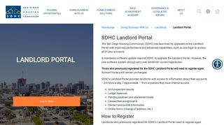 San Diego Housing Commission Landlord Portal