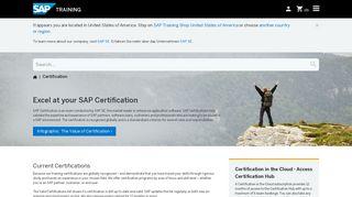 Sap Certification Portal