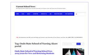 School Of Nursing Akure Portal