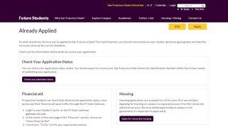 Sfsu Admission Portal