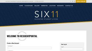 Six11 Resident Portal
