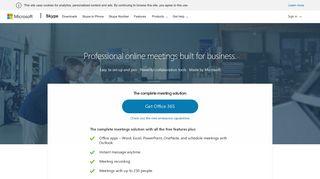 Skype For Business Web Portal