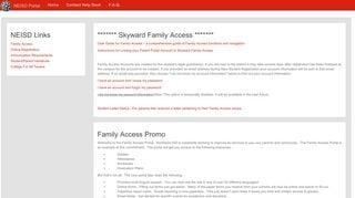 Skyward Parent Portal Neisd