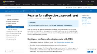 Sspr Registration Portal