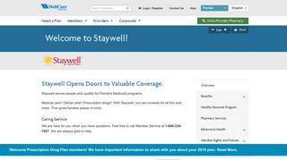 Staywell Health Plan Of Florida Provider Portal
