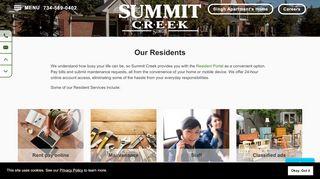 Summit At Cross Creek Resident Portal