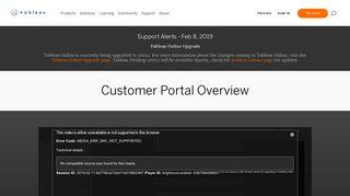 Tableau Login Portal