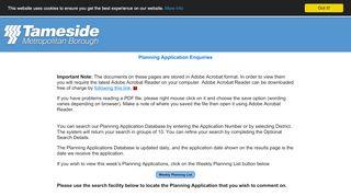 Tameside Planning Portal