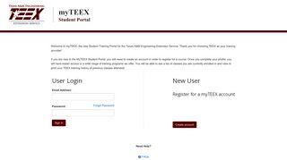 Teex Student Portal