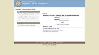 Tennessee Criminal Justice Web Portal