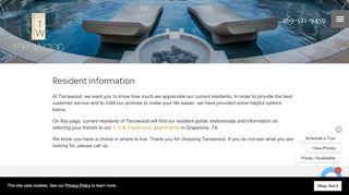 Terrawood Resident Portal