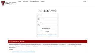 Texas Tech Course Portal