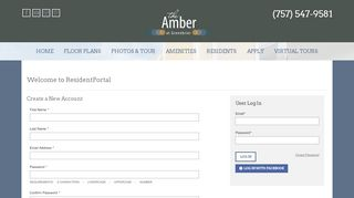 The Amber At Greenbrier Resident Portal