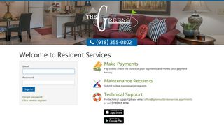 The Greens Resident Portal