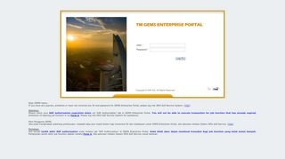 Tm Gems Enterprise Portal