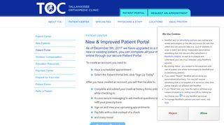 Toc Patient Portal