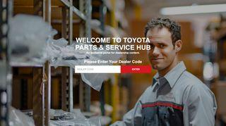 Toyota Wholesale Parts Dealer Portal