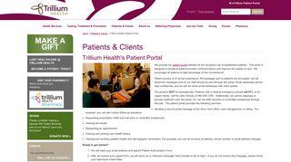 Trillium Health Portal