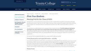 Trinity College Portal