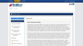 Triwest Provider Portal