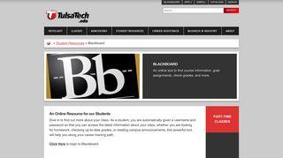 Tulsa Tech Blackboard Login