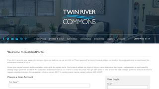 Twin River Commons Resident Portal