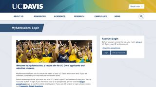 Uc Davis Admissions Portal