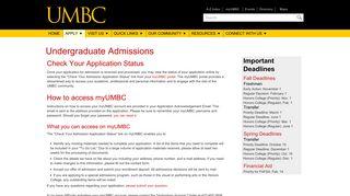 Umbc Application Portal