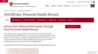 University Hospital Health Portal