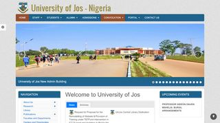 University Of Jos Admission Portal
