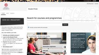 Uppsala Student Portal