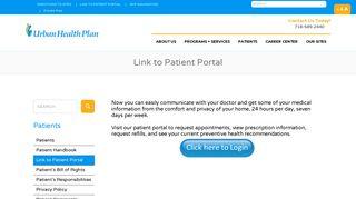 Urban Health Plan Patient Portal