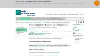 Vale Of White Horse Planning Portal