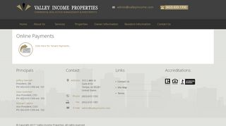 Valley Income Properties Payment Portal
