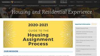 Vanderbilt Housing Portal