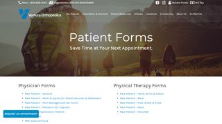 Ventura Orthopedics Patient Portal