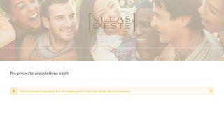 Villas D Este Resident Portal