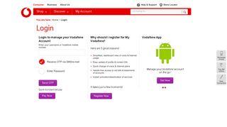 Vodafone Web Portal India