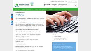 Wageningen University Application Portal