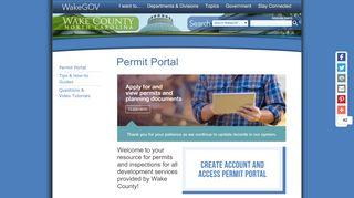Wake County Permit Portal